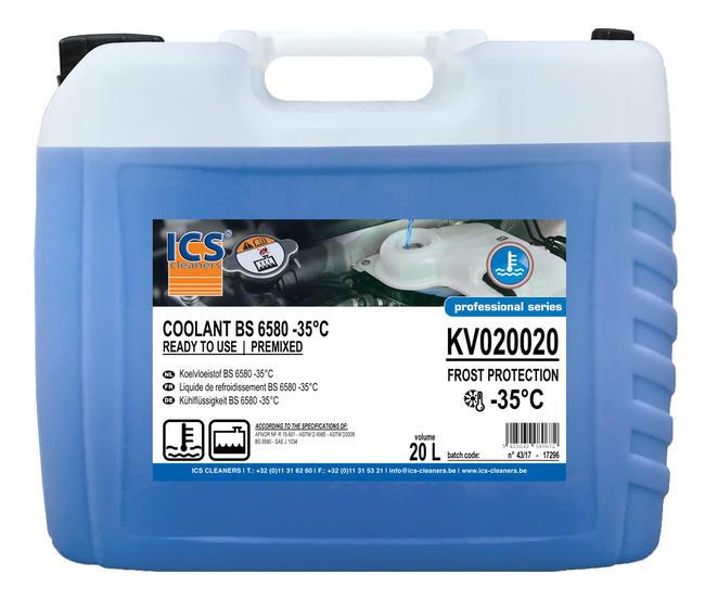 Koelvloeistof -38°C BS 6580 premixed